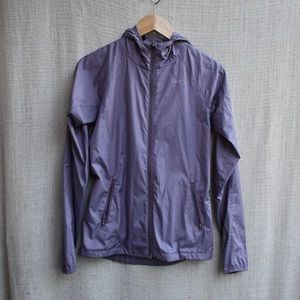 Purple Nike wind breaker